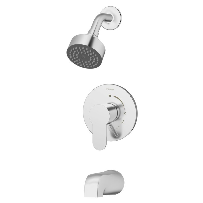 Symmons Identity Tub And Shower Faucet Trim Kit With Metal Lever Handle Wayfair