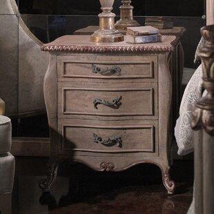 Astoria Grand Leonia 3 Drawer Nightstand