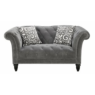 One Allium Way Narcisse Chesterfield Loveseat