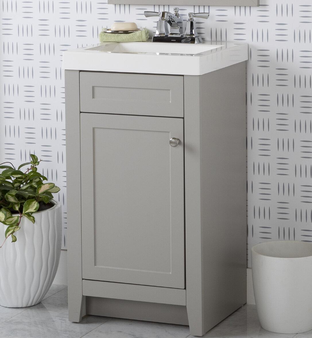 Zipcode Design Adriano 18 Single Bathroom Vanity Set Reviews Wayfair