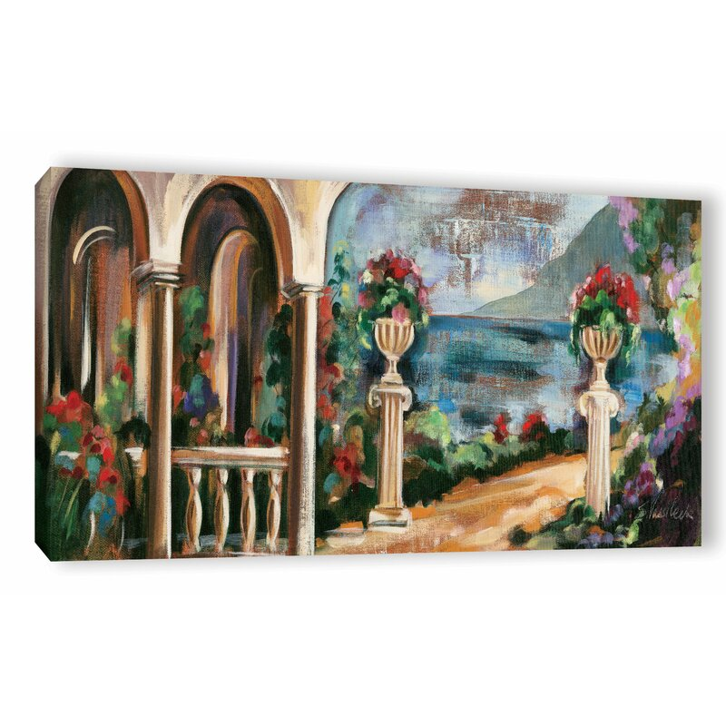 Alcott Hill Garden By The Lake I Painting Print On Wrapped Canvas Wayfair