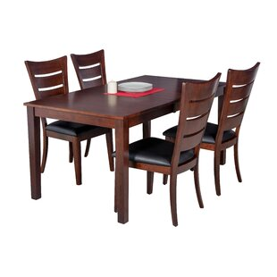 Loon Peak Downieville-Lawson-Dumont 5 Piece Solid Wood Dining Set