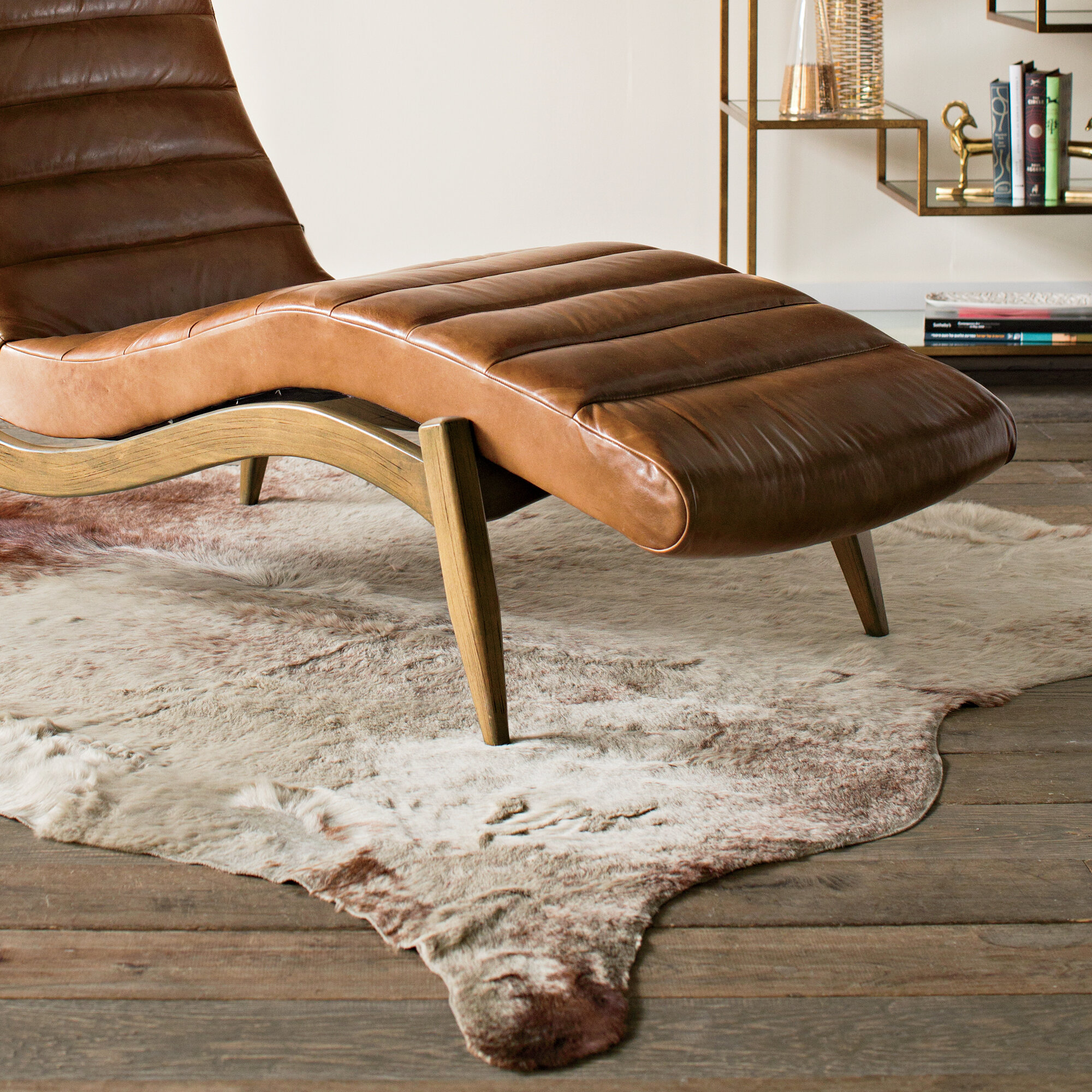 Lorain Light Brindle Tan Cowhide Rug