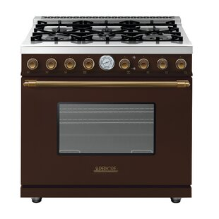 Deco 36 6.7 cu ft. Free-standing Gas Range by Superiore