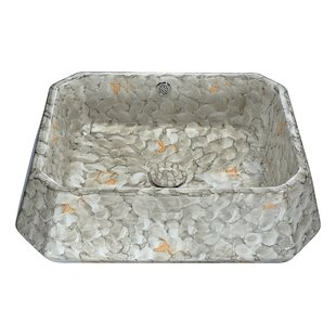 ANZZI Sona Vitreous China Square Vessel Bathroom Sink