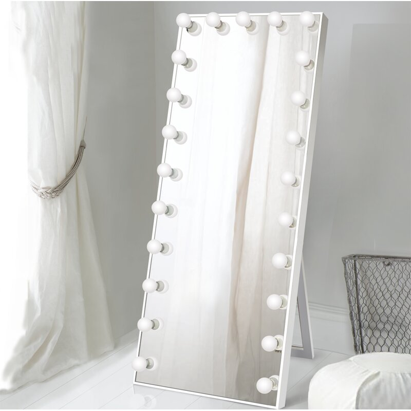 Symple Stuff Laleia Lighted Full Length Mirror Wayfair
