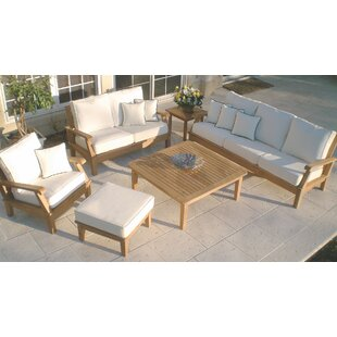 Dryden 6 Piece Teak Sunbrella Sofa Seating Group with Sunbrella Cushions