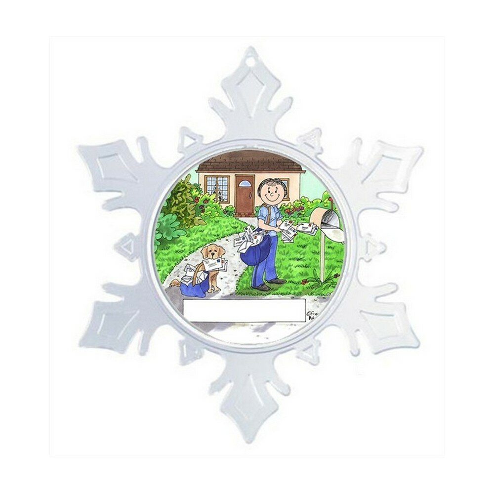 The Holiday Aisle Personalized Friendly Folks Cartoon Snowflake