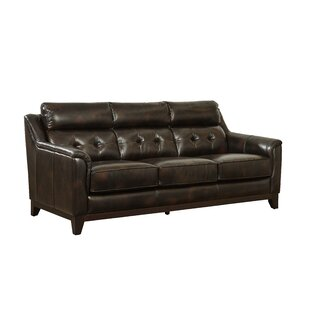 Issleib Leather Sofa by Darby Home Co