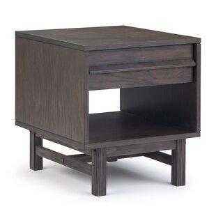 Mccarter End Table with Storage by Brayden Studio