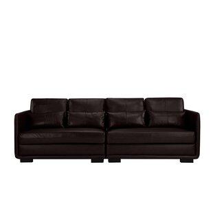 Kiana 2 Piece Convertible Leather Sofa by Ebern Designs
