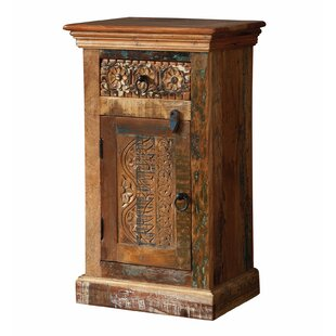 Mcfee Reclaimed Wood 1 Drawer 1 Door Accent Cabinet by World Menagerie