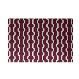 Uresti Decorative Holiday Geometric Print Indoor/Outdoor Rug Cranberry Burgundy Indoor/Outdoor Area Rug By Wrought Studio