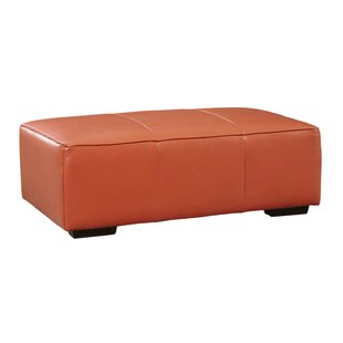 Denis Leather Ottoman by Latitude Run