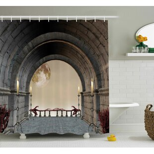 Best Reviews Gothic Antique Vintage Decor Shower Curtain By East Urban Home