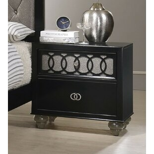 Gingrich 2 Drawer Nightstand by Everly Quinn