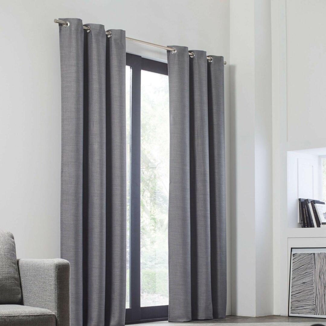 Lina Eyelet Blackout Thermal Single Curtain
