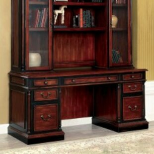 Bay Transitional Armoire Desk with Hutch