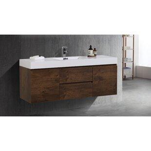 Sinope 59 Wall-Mounted Single Bathroom Vanity Set By Orren Ellis