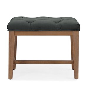 Mia Wood Upholstered Top Cube Ottoman by Handy Living