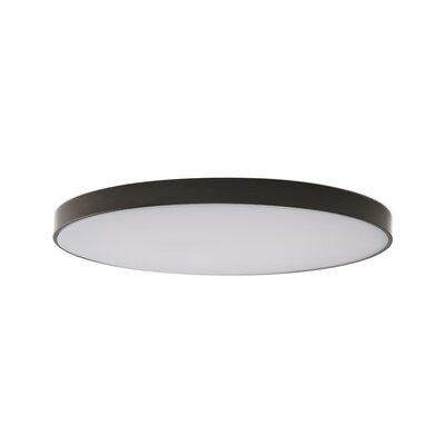 "Anchor 1 - Light Statement Circle LED Flush Mount Orren Ellis Fixture Finish: Bronze, Size: 0.77"""" H x 6.7"""" W x 6.7"""" D -  B4B092EB7CC34137AEBF81B10D4DF82A"