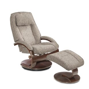 Flathead Lake Teatro Manual Swivel Recliner With Ottoman by Red Barrel Studio