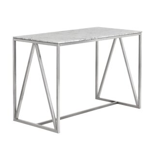 Abel Stainless Steel Marble Counter Pub Table by Sunpan Modern