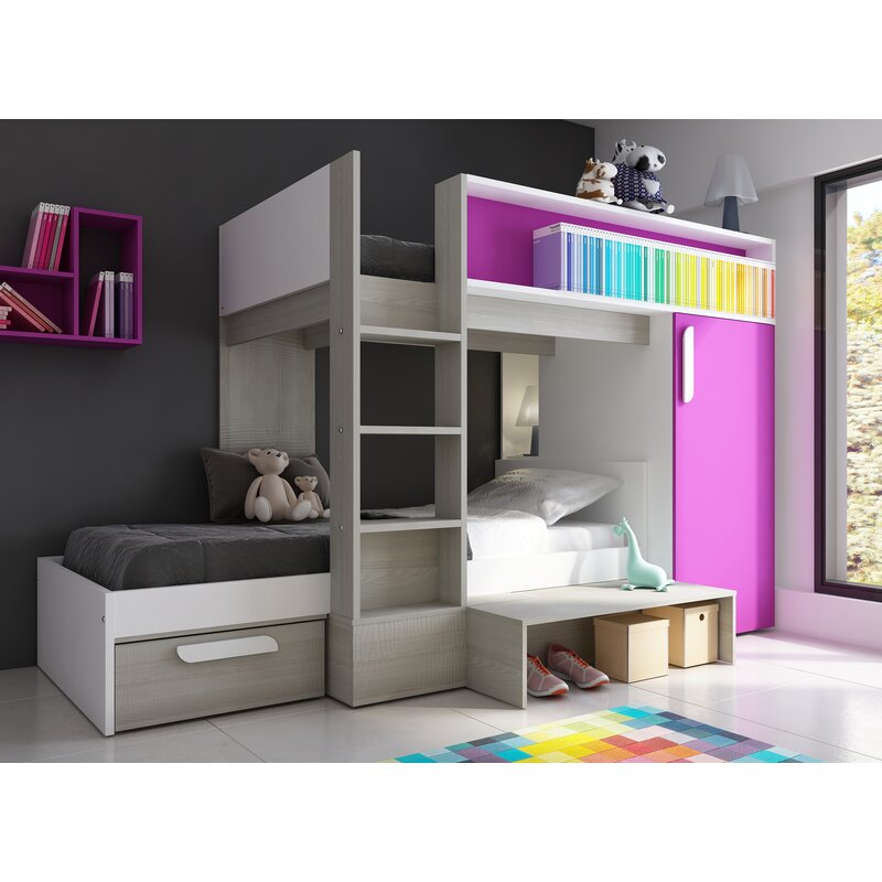 Vinehall Single L-Shaped Bunk Bed with Storage