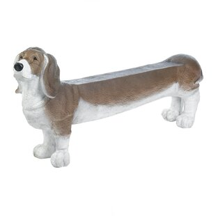 Michaelson Basset Hound Doggy Resin Bench