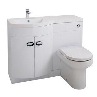 Kieran D-Shaped 3-Piece Bathroom Furniture Set By Belfry Bathroom