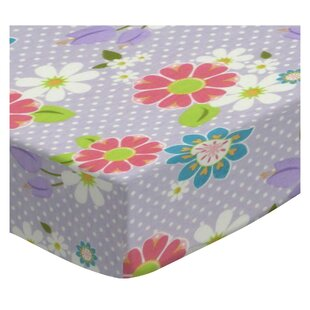 Order Floral Dot Fitted Crib Sheet BySheetworld