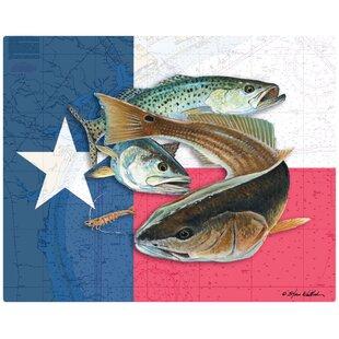 Texas Flag and Bully Non-Slip Flexible Cutting Board