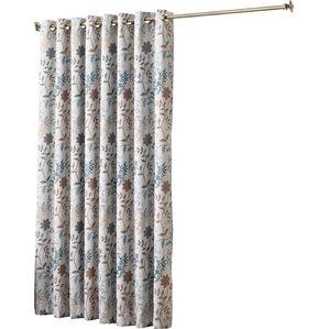 auburn extra wide floral room darkening sliding patio door curtain panel