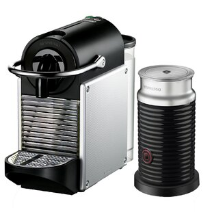 Delonghi Nespresso Pixie Single-Serve Espresso Machine with Aeroccino Milk Frother