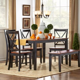 Greenside Deering 6 Piece Dining Set by Three Posts