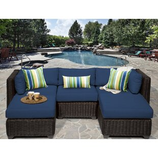 Eldredge 5 Piece Sofa Seating Group with Cushions by Rosecliff Heights