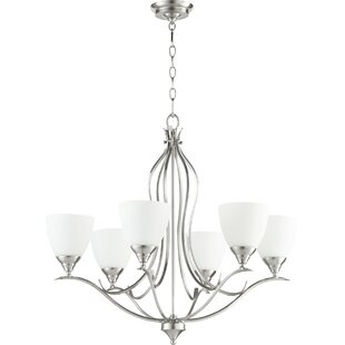Lark Manor Harnois 6-Light Shaded Chandelier