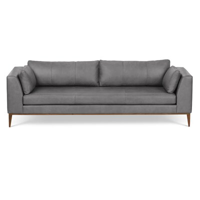 Brayden Studio Reid Leather Sofa