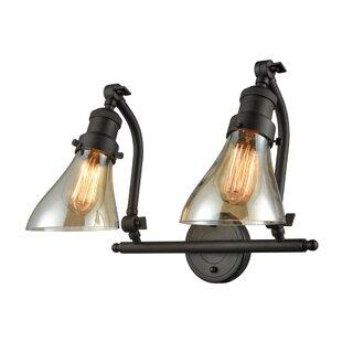 Williston Forge Bonomo Bell 2-Light Vanity Light