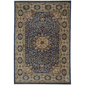 Etonbury Traditional Teal Floral Area Rug