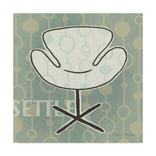 U0027Retro Chair IV Settleu0027 Graphic Art Print On Wrapped Canvas