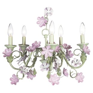 Leaf and Flower 5-Light Chandelier by Jubilee Collection