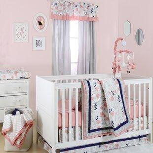 Top Reviews Floral Dot 4 Piece Crib Bedding Set ByThe Peanut Shell