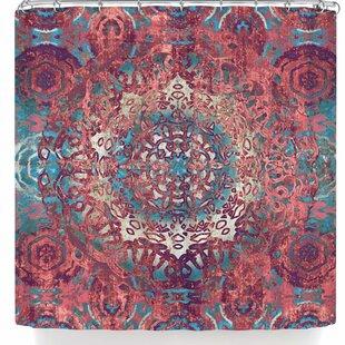 East Urban Home Nina May Magi Mandala Rose Gold Shower Curtain