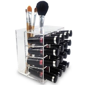 acrylic lipstick rack storage display makeup cosmetic organizer
