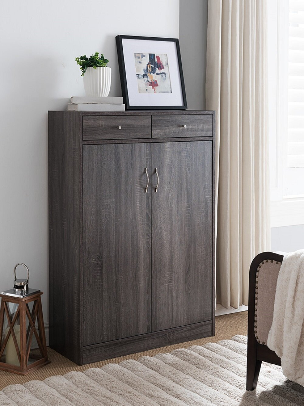 Picture of: Wooden Entryway Shoe Storage Cabinet Reviews Joss Main