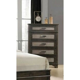 Reviews Dardar 5 Drawer Chest by Charlton Home