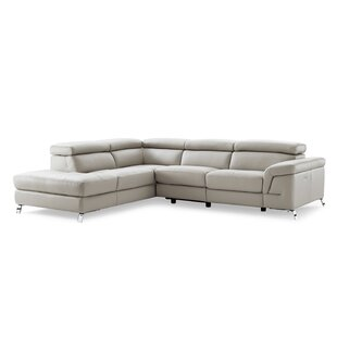 Find Oakfield Leather Reclining Sectional by Wade Logan Reviews (2019) & Buyer's Guide