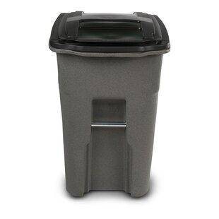 Plastic 48 Gallon Manual Lift Curbside Trash & Recycling Bin By Toter