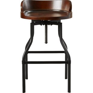 Essonnes Height Adjustable Swivel Bar Stool By Borough Wharf
